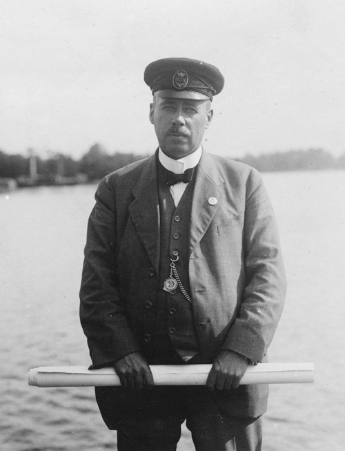 Båtens konstruktör Gustaf Estlander. ©Sjöhistoriska muséet