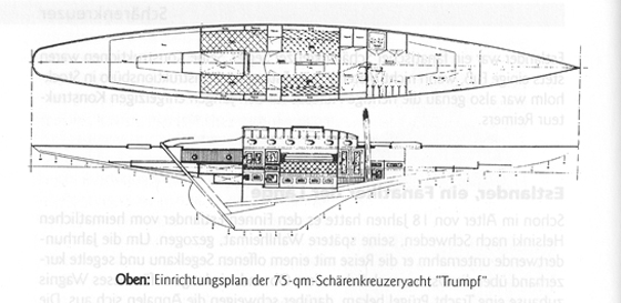 Interior drawings of the new boat