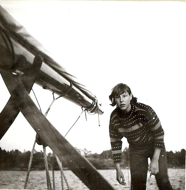 Vanja Swahn under segling Helsingfors-Stockholm 1964 Foto ©Familjen Swahn
