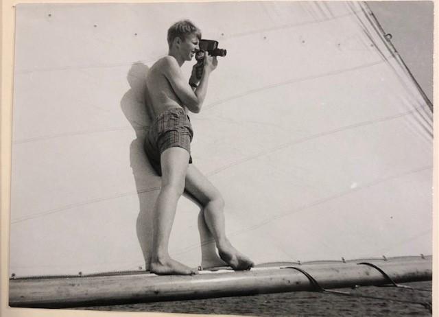 Christer Swahn på bommen 1964. Foto ©My Bjelkesjö