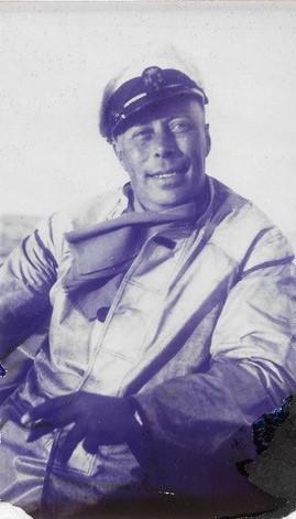 Nisse Swahn, bror till Holger och aktiv seglare med Trumph och andra båtar. Även aktiv inom HSS och hedersmedlem 1978. Foto ©Irma Swahn