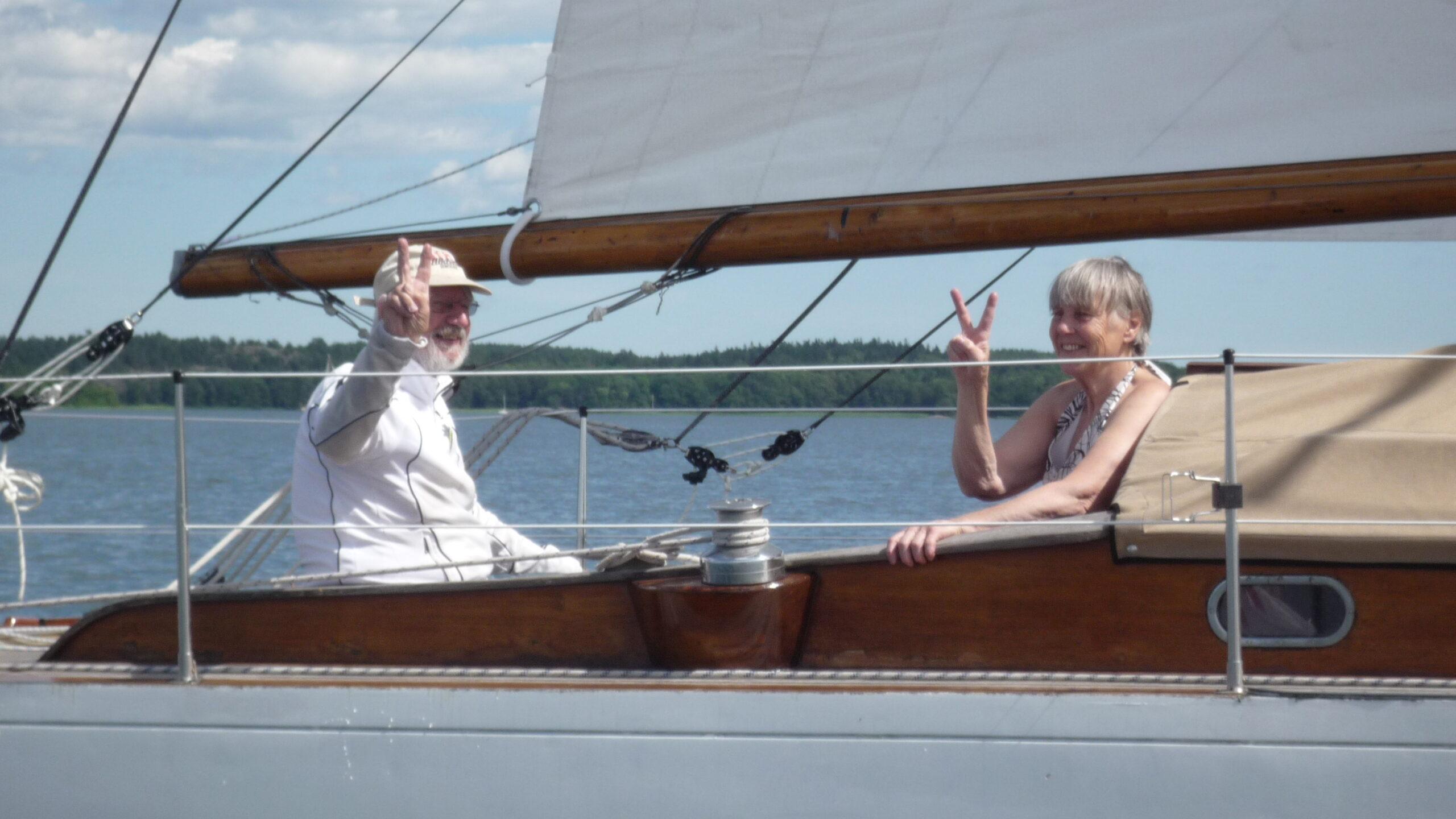 Den moderniserade riggen verkar fungera om man ska tro Henrik och Vanja. Foto ©Magnus Swahn