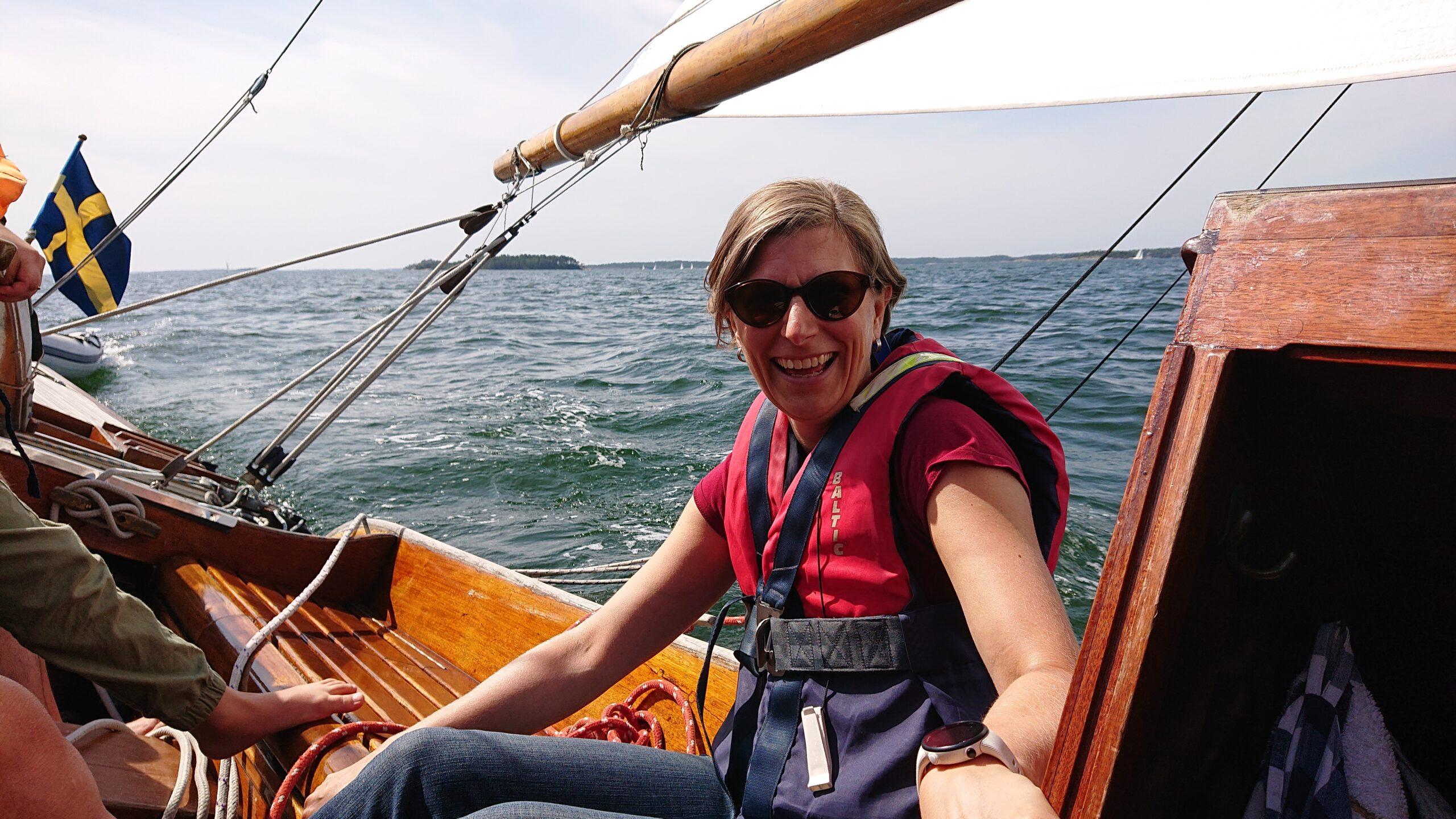 Härligt att segla. Hade vi med barnen?,  Foto © Magnus Swahn